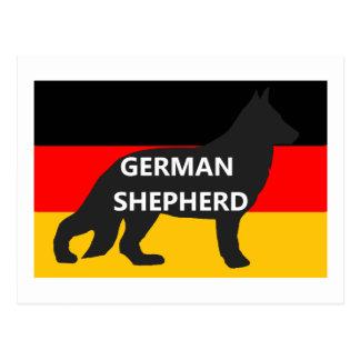 nombre del silo del pastor alemán en germany-flag. postales