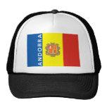 nombre del texto de la bandera de país de Andorra Gorro De Camionero