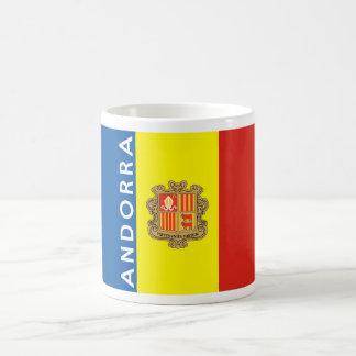 nombre del texto de la bandera de país de Andorra Taza