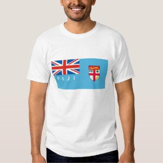 nombre del texto de la bandera de país de Fiji Playeras
