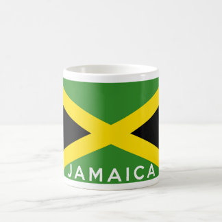nombre del texto de la bandera de país de Jamaica Taza De Café