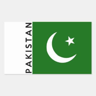 nombre del texto de la bandera de país de rectangular pegatina