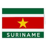 nombre del texto de la bandera de país de Suriname