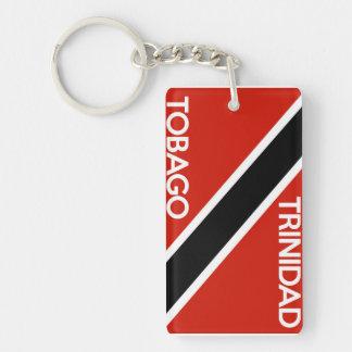 nombre del texto de la bandera de país de Trinidad Llaveros