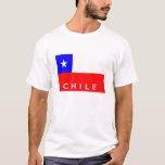 nombre del texto de la bandera de país del chile playera