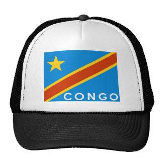 nombre del texto del país de la bandera de Congo Gorra