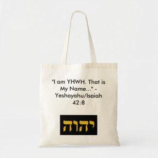 Nombre del tote/del bolso de YHWH