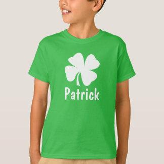 Nombre del trébol del día el   de St Patrick Playera