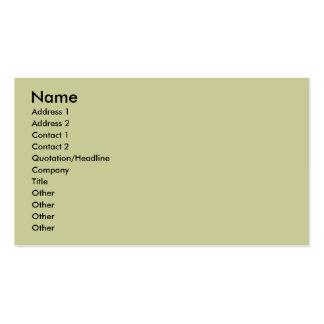 Nombre, dirección 1, dirección 2, contacto 1, tarjetas de visita