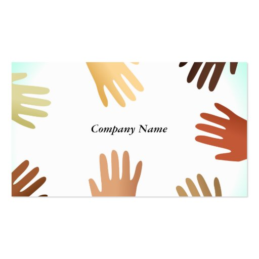 Nombre Diverse Hands, Company Tarjetas De Visita