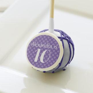 Nombre/edad púrpuras del lunar del cumpleaños del