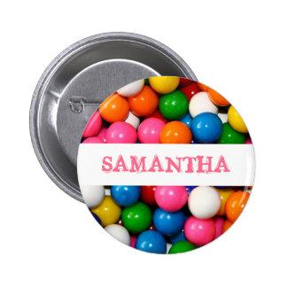 Nombre el botón de Gumballs Pin Redondo De 2 Pulgadas