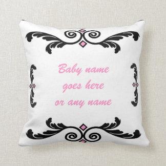 Nombre el rosa de la almohada del bebé