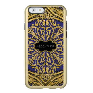 Nombre elegante del remolino de la voluta del funda para iPhone 6 plus incipio feather shine