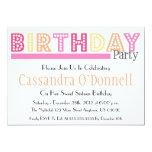 Nombre en invitaciones de la fiesta de cumpleaños anuncios