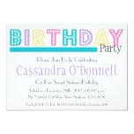 Nombre en las invitaciones de la fiesta de comunicado personal