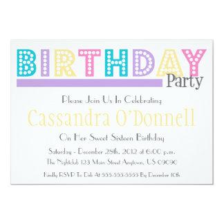Nombre en las invitaciones de la fiesta de invitación