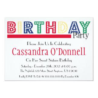 Nombre en las invitaciones de la fiesta de comunicados personalizados