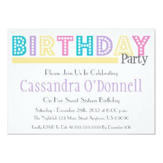 Nombre en las invitaciones de la fiesta de comunicado