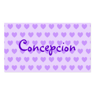 Nombre en púrpura tarjetas de visita