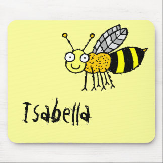 Nombre enrrollado Mousepad Isabel de la abeja de l Tapete De Ratón