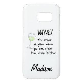 Nombre entero de la botella de la orden del vino funda samsung galaxy s7