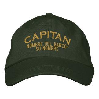 Nombre ESPAÑOL del EL Capitan Nombre del barco y Gorra De Béisbol Bordada