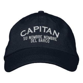 Nombre ESPAÑOL del EL Capitan Nombre del barco y Gorras De Beisbol Bordadas