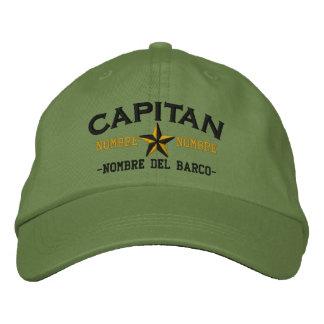 Nombre ESPAÑOL del EL Capitan Nombre del barco y Gorro Bordado