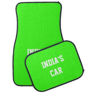 Nombre exclusivo verde de neón del color sólido alfombrilla de auto