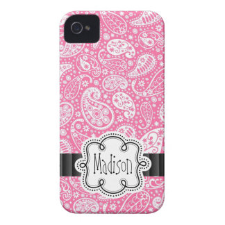 Nombre femenino del modelo ROSADO brillante de Case-Mate iPhone 4 Cárcasas
