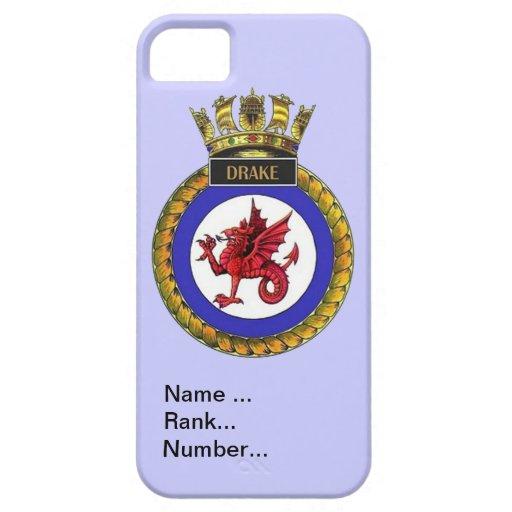 Nombre, fila, número, HMS Drake Funda Para iPhone SE/5/5s