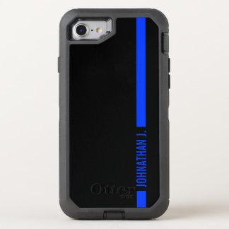 Nombre fino del militar de Blue Line Funda OtterBox Defender Para iPhone 7