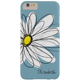 Nombre floral del personalizado del ejemplo de la funda para iPhone 6 plus barely there
