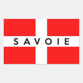 nombre francés del texto de Francia de la bandera Pegatina Rectangular