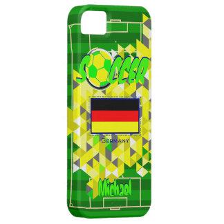 Nombre geométrico Michael de la bandera de Alemani iPhone 5 Cárcasa