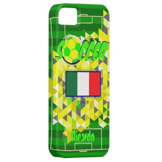 Nombre geométrico Ricardo de la bandera de Italia  iPhone 5 Protectores