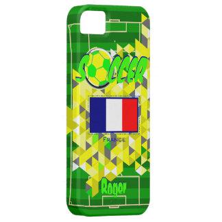 Nombre geométrico Rogelio de la bandera de Francia iPhone 5 Funda