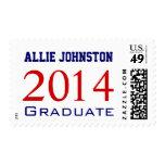 Nombre graduado del azul 2014 rojos franqueo