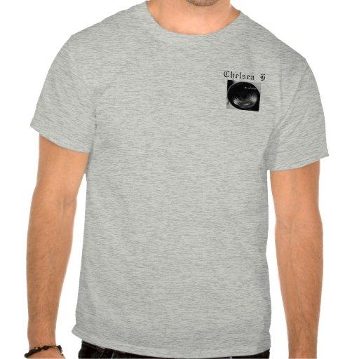 Nombre gris de la camiseta de Chelsea H, logotipo  Playeras