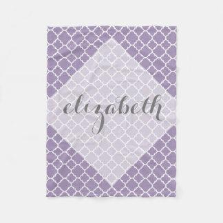 Nombre gris púrpura en colores pastel del manta polar
