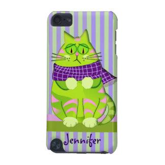 Nombre gruñón del gato y del personalizado carcasa para iPod touch 5