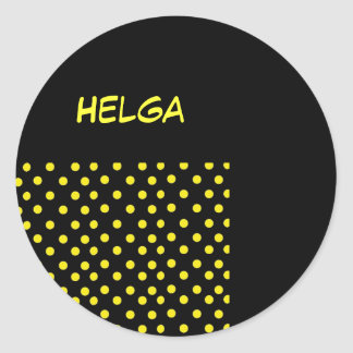 Nombre: Helga Pegatina Redonda