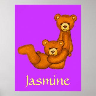 Nombre inicial de Letter~Custom del alfabeto del o Posters