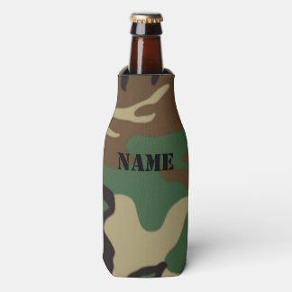 Nombre/iniciales personalizados ~ del camuflaje enfriador de botellas