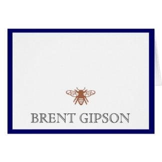Nombre inmóvil con la abeja tarjeta pequeña