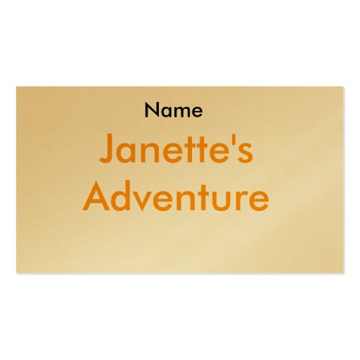 Nombre, la aventura de Janette Tarjetas De Visita