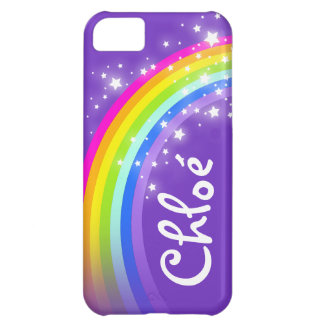 Nombre (la caja púrpura del iphone del añil del funda para iPhone 5C