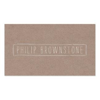 Nombre manuscrito del bosquejo único de la caja en tarjetas de visita