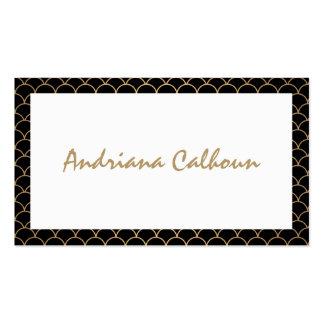 Nombre manuscrito elegante con el modelo del art plantillas de tarjeta de negocio